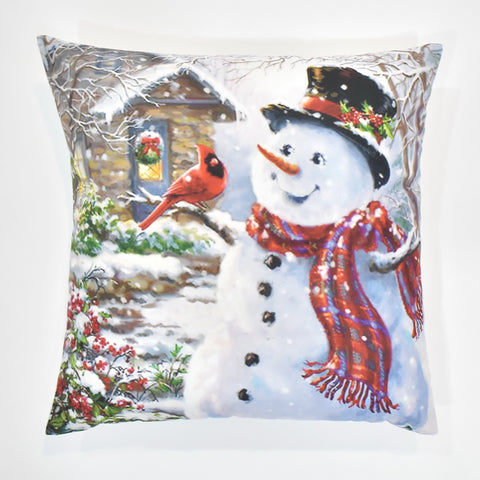 Classic Snowman Christmas Cushion Cover | 41 x 41 cm