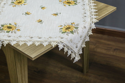 Sunflower Square Table Topper | 36 inches