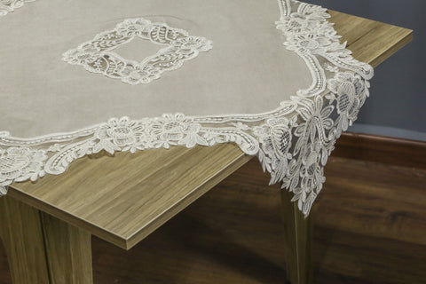 Isabelle Square Table Topper | 38 inches