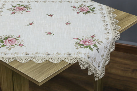 Fiona Square Table Topper | 36 Inches