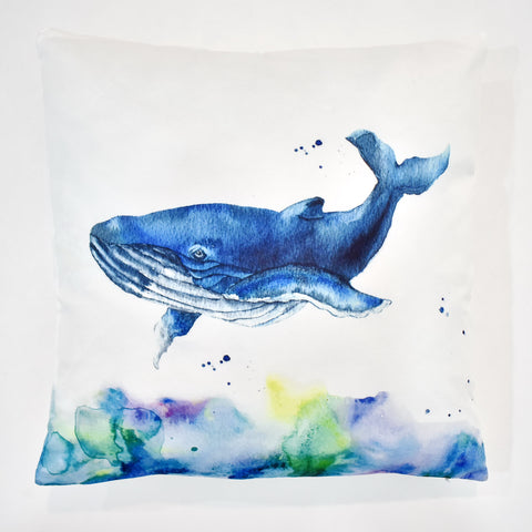 Whale Printed Cushion | 45 x 45 cm