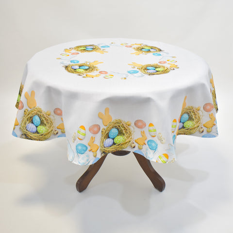 Printed Easter Eggs Round Table Topper | 180cm Round