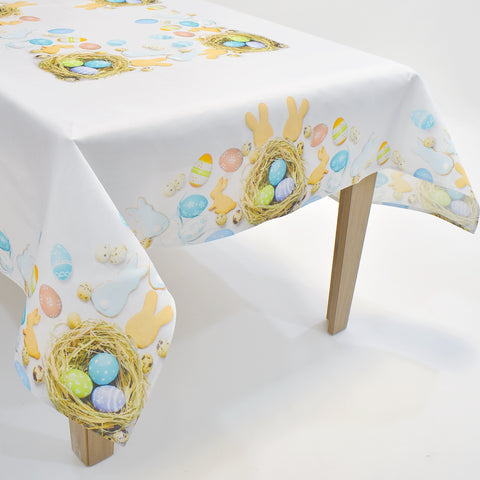 Printed Easter Eggs Table Topper | 72x90 inches