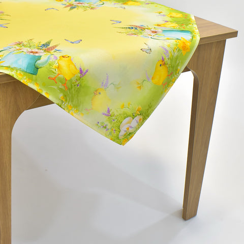 Printed Easter Chicks Table Topper | 36 inches