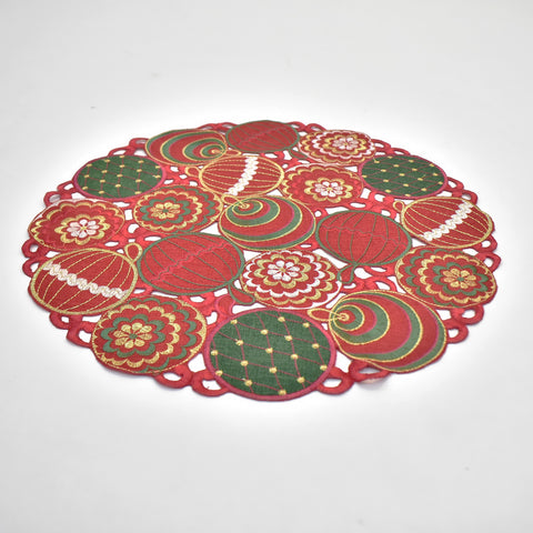 Christmas Ornaments Doily | 45 cm