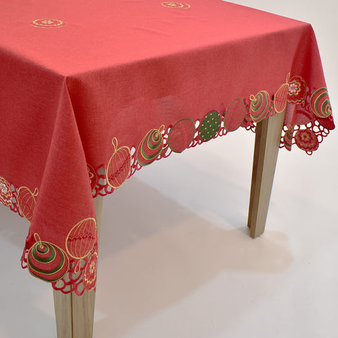Christmas Ornaments Dining Table Topper | 72x126 inches
