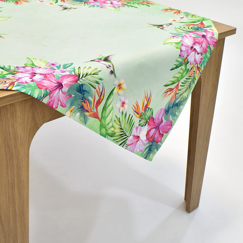 Printed Hummingbird Table Topper | 36 inches