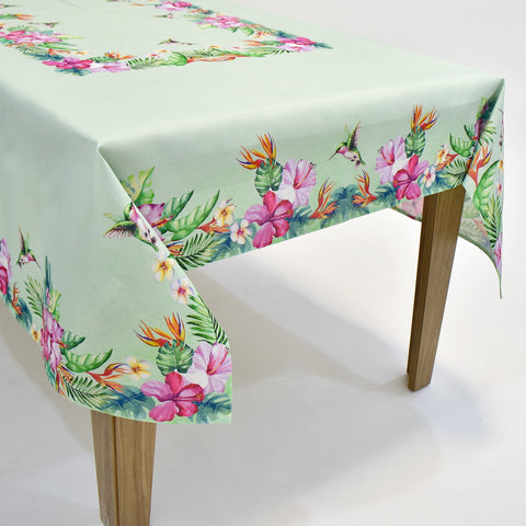 Printed Hummingbird Table Topper | 54x72 inches