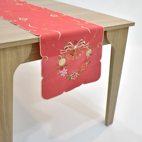 Christmas Bells Table Runner | 16x72 inches