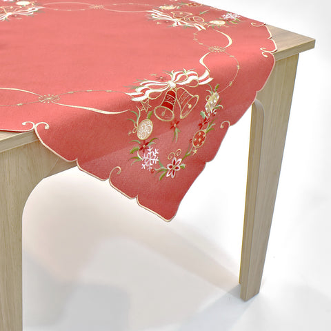 Christmas Bells Square Table Topper | 36 inches