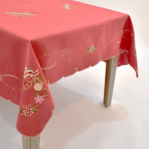 Christmas Bells Dining Table Topper | 72x90 inches