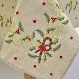 Candy Cane Christmas Dining Table Topper | 72x126 inches