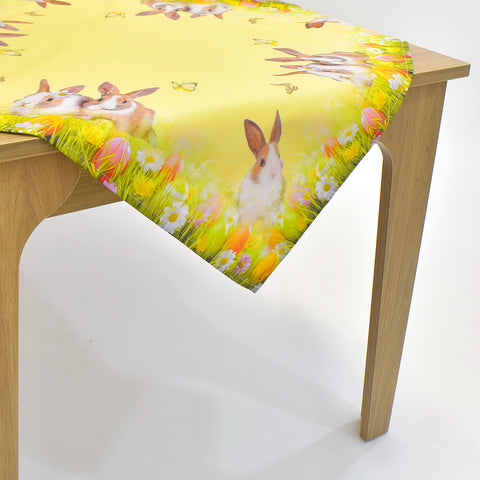 Printed Easter Bunnies Table Topper | 36 inches