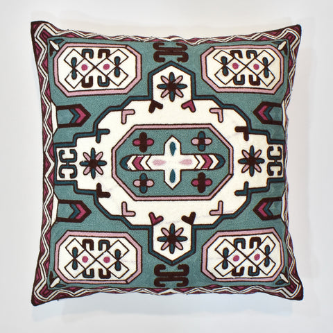 Multi Embroidered Cushion Cover | 45 x 45 cm