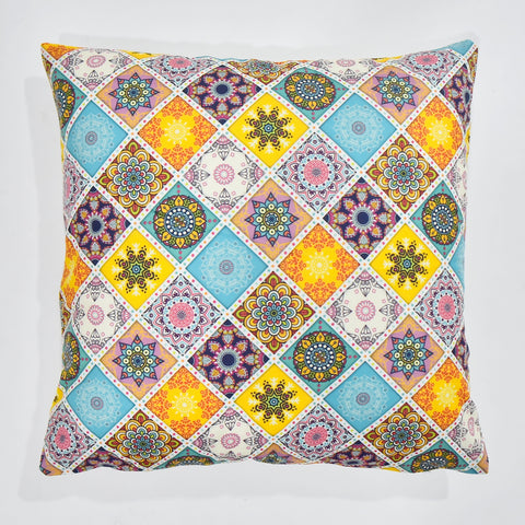 Multicolor Printed Cushion Cover | 44 x 44 cm