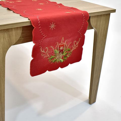 Christmas Candle Table Runner | 16x72 inches