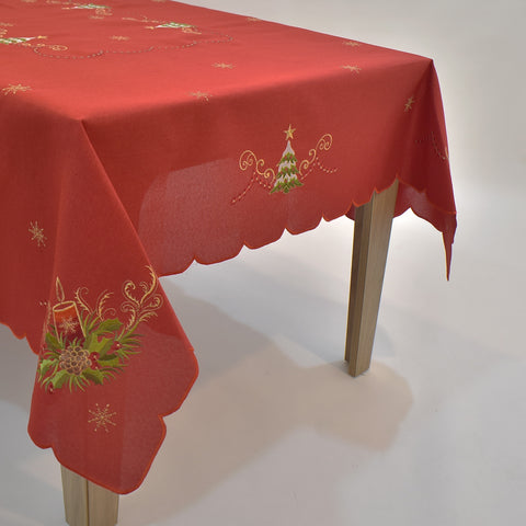 Christmas Candle Table Topper | 72x108 inches