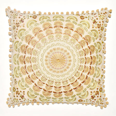 Mandala-Style Embroidered Cushion Cover | 45 x 45 cm