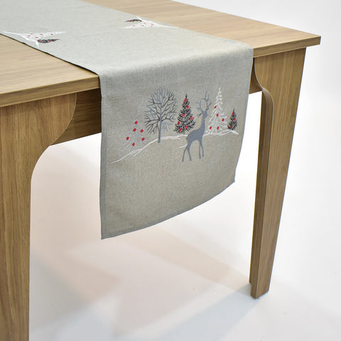 Christmas Deer Table Runner | 16x72 inches