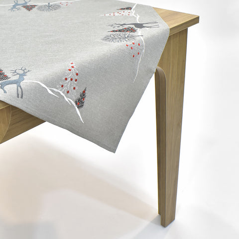 Christmas Deer Square Table Topper | 36 inches