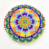 Multicolor Floral Embroidery Round Cushion | 45 x 45 cm