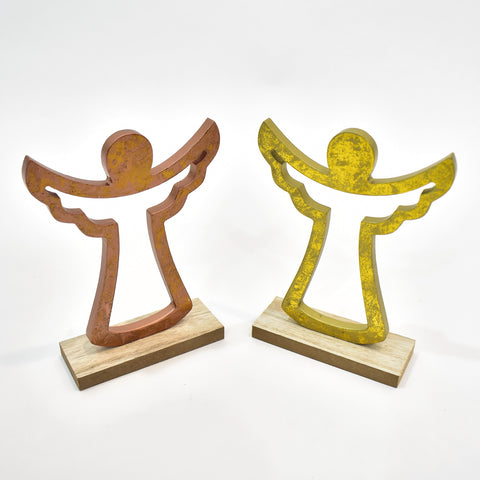 Decorative Wooden Christmas Angel Figure