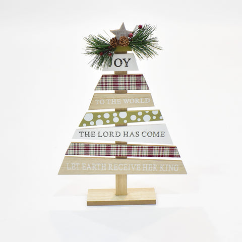 Decorative Wooden Writing Christmas Tree