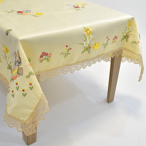 Easter Lace Table Topper | 72x90 inches