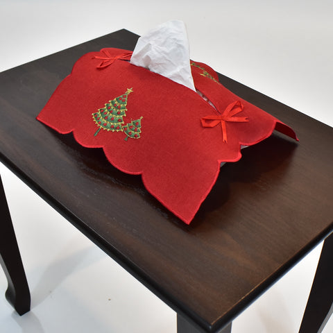 Christmas Tree Tissue Box Cover