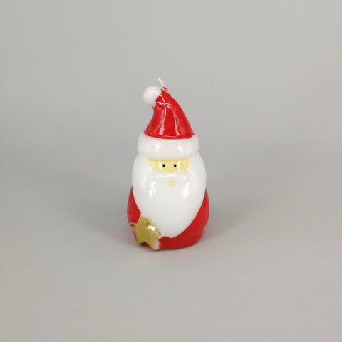 Decorative Red Christmas Santa Candle | Medium