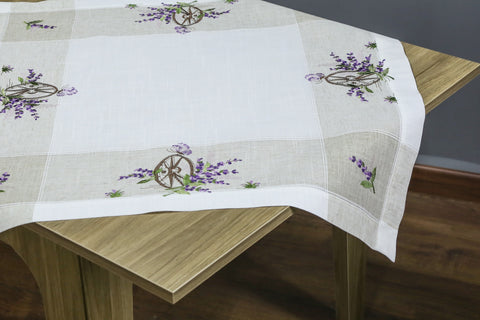 Lavender Square Table Topper | 36 inches