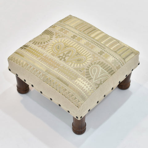Indian Embroidery Foot Stool | 44 x 44 cm