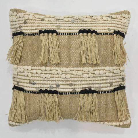 Jute Macrame Cushion Cover | 45 x 45 cm