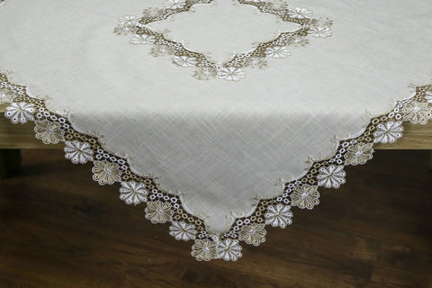 Fiore Square Table Topper | 54 inches