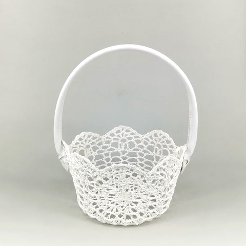 Crochet Round Basket With Handle