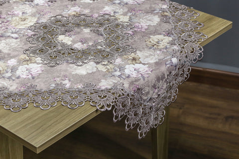 Mauve Square Table Topper | 36 inches