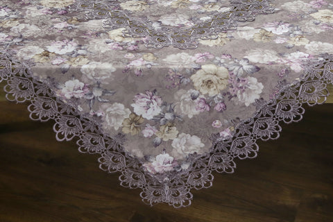 Mauve Square Table Topper | 54 inches