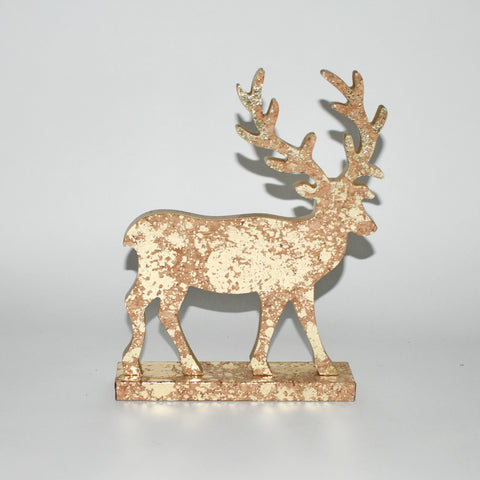 Decorative Gold Wooden Christmas Reindeer
