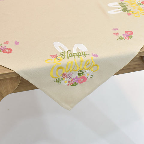 Happy Easter Square Table Topper | 36 inches
