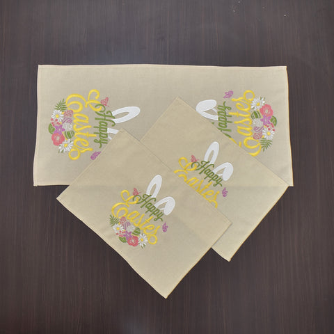 Happy Easter 3 Piece Tablecloths Set