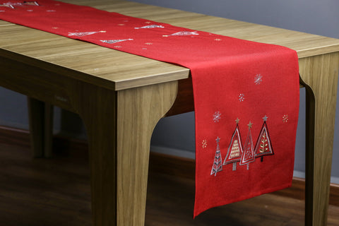 Modern Tree Table Runner | 16x72 inches