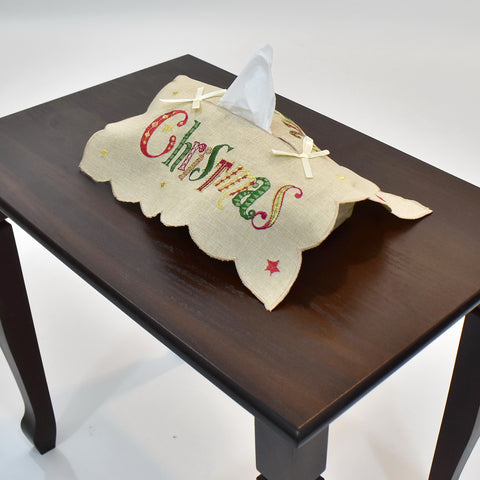 Merry Christmas Tissue Box Cover
