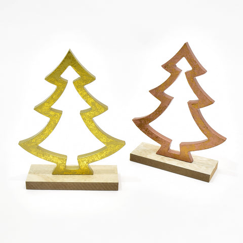 Decorative Wooden Christmas Tree Outline