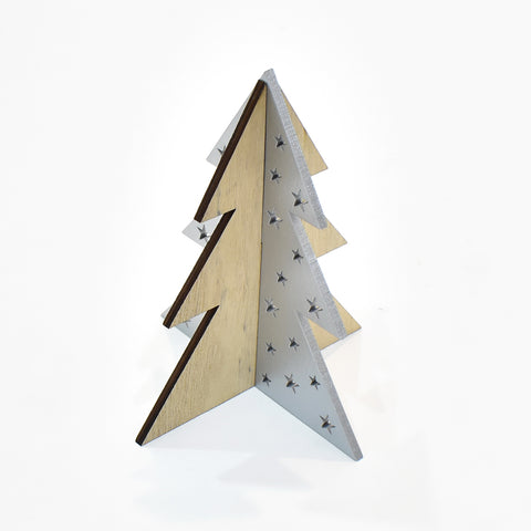 Modern 3 Dimensional Wooden Christmas Tree