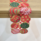 Christmas Ornaments Table Runner | 8x64 inches