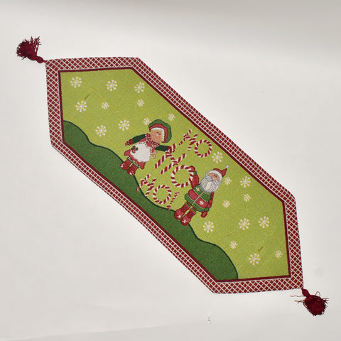 Ho Ho Ho Santa Christmas Tapestry Table Runner | 33 x 90 cm