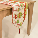 Christmas Ornament Tapestry Table Runner | 33 x 134 cm