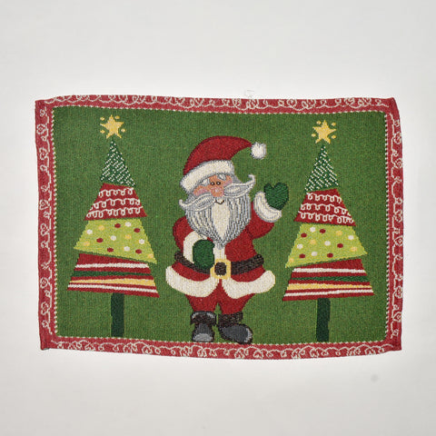Santa and Christmas Tree Tapestry Doily | 33 x 45 cm
