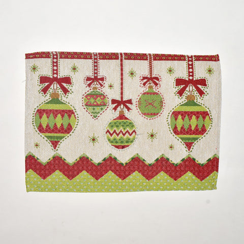 Christmas Ornament Tapestry Doily | 33 x 45 cm