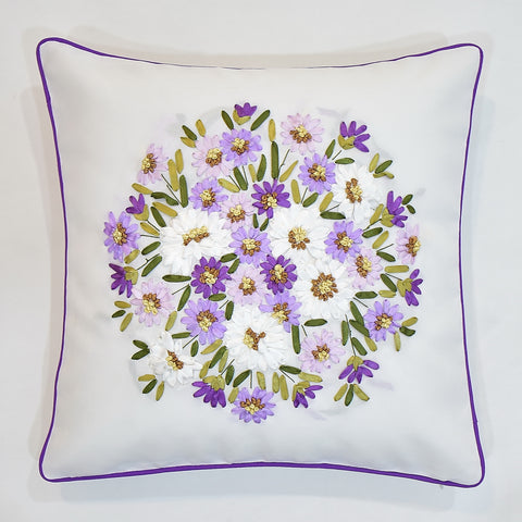 Floral Ribbon Cushion Cover | 45 x 45 cm